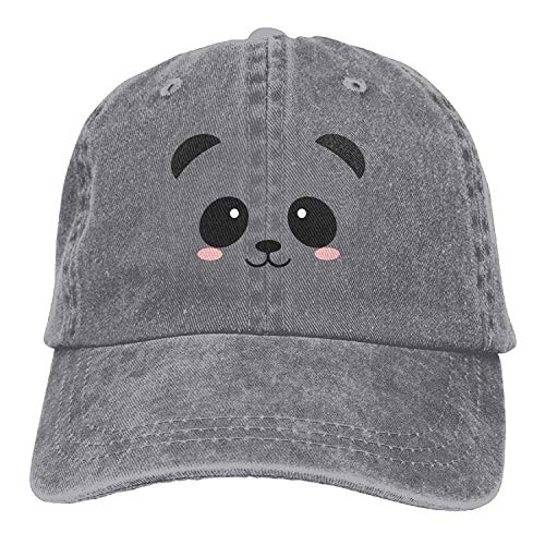 LJKHas232 Cute Panda Fcae Unisex Washed Twill Cotton Baseball Cap Vintage Adjustable Dad Hat Washed Cotton Twill Cap