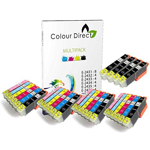 Preisvergleich Produktbild 28 (4 Satzs + 4 Schwarz ) Colour Direct Kompatibel Tintenpatronen Ersatz für Epson Expression Foto XP-55 XP-750 XP-760 XP-850 XP-860 XP-950 XP-960 24XL