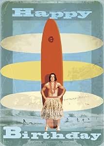 Carte De Joyeux Anniversaire De Surfeur Par Max Hernn