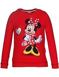DISNEY Niñas Minnie Mouse Sudadera, rojo