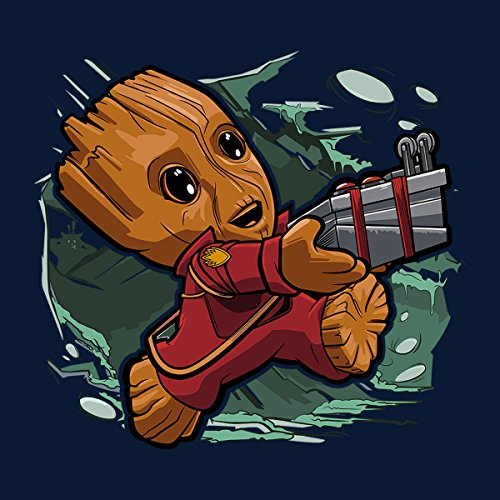 Tiny Groot Guardians Of The Galaxy II Women's Vest Navy blue