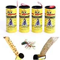 edhua 4 unids Fly Sticky Paper Strip Mosquitos Killer Catcher Flying Control de Insectos Toxic Flying