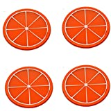 Little Kitchen Round Non-Slip Durable Heat Resistant Silicone Dining Table Place Mat, Table Mat, Trivet Mat, Jar Opener, Spoon Rest - Home Accessories Kitchen Accessories Dinning Table Accessories By Little Kitchen - B078MK636Z