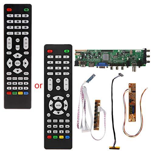 V56 V59 LCD TV Driver Board DVB-T2 + 7 Tasten, IR+1 Lampen-Inverter + LVDS Kit 3663