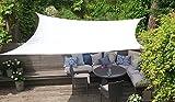 Clara Sonnensegel, hochwertig, 95 % UV-Schutz, wasserfest Reinweiß, Baldachin, Sonnensegel, für Terrasse/Außenbereich/Innenbereich (Rectangle 3m x 4m, Weiß)