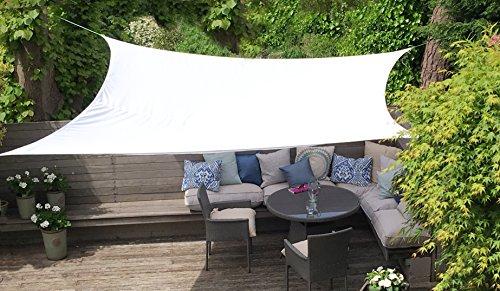 Clara Sonnensegel, hochwertig, 95 % UV-Schutz, wasserfest Reinweiß, Baldachin, Sonnensegel, für Terrasse/Außenbereich/Innenbereich (Rectangle 3m x 4m, - Baldachin Möbel Schlafzimmer