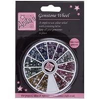 Anita' s 3mm–QUALITÀ color arcobaleno Gemstone ruota Strass + Cristallo