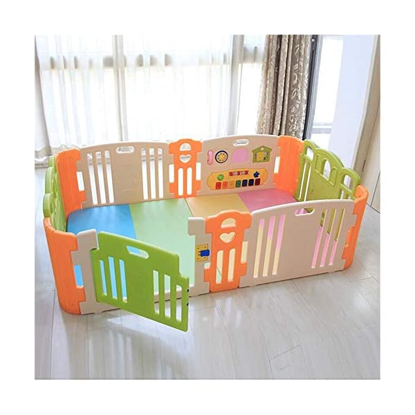Baby Playpens Baby Playpen Kids Activity Centre Safety Play Yard Home Indoor Baby Playard Baby Fence For Toddlers Children's Play Centers Children's Play Centers Ryyland-Home Large area Of Play For Babies: All the door panels are combined to provide enough space for the baby. The baby can crawl or walk inside, which can help the baby learn to crawl or walk to a certain extent. You can also enter the fence to play or rest with your baby. Material: Our playpens are made of durable, non-toxic materials. Wide coverage of baby games: Provide plenty of space for your baby. The baby can crawl or walk inside, which can help the baby learn to crawl or walk to a certain extent. You can also enter the fence to play or rest with your baby. 5