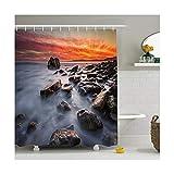 Knbob Duschvorhang Wald Natürlicher Stil Stil 3 Shower Curtain 180X180CM mit Vorhanghaken Wohnaccessoires