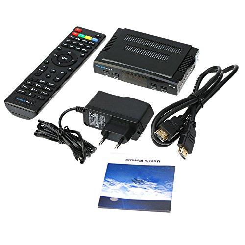 docooler FREE SAT V7 HD DVB-S2 Receptor de TV Vídeo Digital Broadcasting Set Top Box Compatible con USB PVR EPG PowerVu DRE & Biss Key for TV HDTV EU enchufe