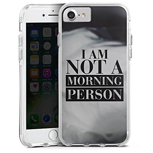 Apple iPhone 6 Plus Bumper Hülle Bumper Case Glitzer Hülle Morgenmuffel Phrases Sprüche Bumper Case transparent