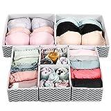 Umi. by Amazon - Organizadores de cajones de tela, set de 6 cajas organizadoras plegables de 3...
