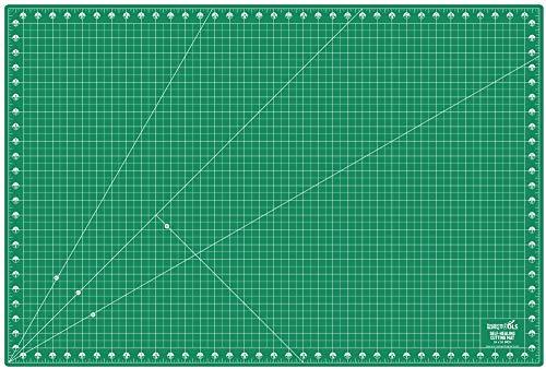 Precision Quilting Tools Professionelle Schneidematte, selbstheilend, doppelseitig, drehbar, 61 x 91,4 cm