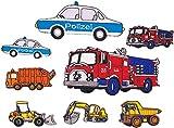 i-Patch - Patches - 0124 - Feuerwehr - Polizei - Müllwagen - Traktor - Krankenwagen - Auto - Aufbügler - Flicken - Aufnäher - Sticker - Badges - Bügelbild - Iron-on - Applikation - zum aufbügeln