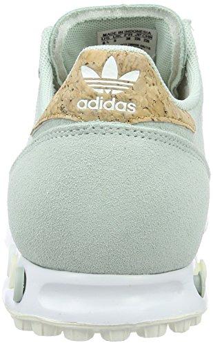 adidas Damen La Trainer W Laufschuhe, M Grün (Vapour Green F16/Off White/Ftwr White)