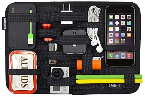 Band Organizer (Cocoon GRID-IT - Taschen Organizer / Elastische Bänder / Elektronik Zubehör / Organizer für Aktentasche / Multifunktionales Organisationssystem mit Reißverschluss & Schlaufe - Schwarz / 30,5x1x20,3cm)