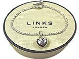 New LINKS OF LONDON Sterling Silver Puffed Heart Sweetie Charm on 18cm T Bar Bracelet 5030.0151
