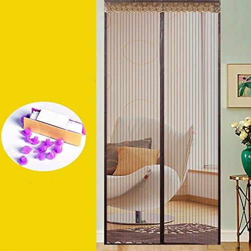 Sommer - mücke Fliegengittertüren, schlafzimmer Fliegengitter für Fenster partition der soft - vorhang Klett Stumm - Fenster und Tür-A-130x220cm(51x87inch)