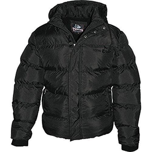 Tysonz Modische Kurz-Jacke Aspen mit Kaputze Daunenjacke Winterjacke Schwarz S-XXL (S)