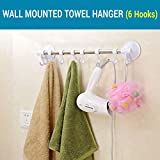 #5: TIED RIBBONS Wall Mounted Suction Cup Towel Rod With 6 Hooks Towel Hanger/Holder/Organizer