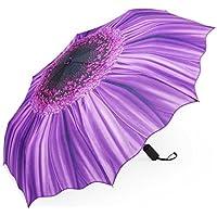 PLEMO Ombrello Pioggia Pieghevole Mini Resistenti Automatico da Viaggio Borsa