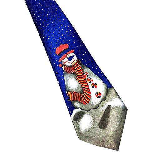 n Luxus Weihnachtsbindung Santa Druck Gemustert Neuheit Krawatte (Lustige Santa-kostüme)