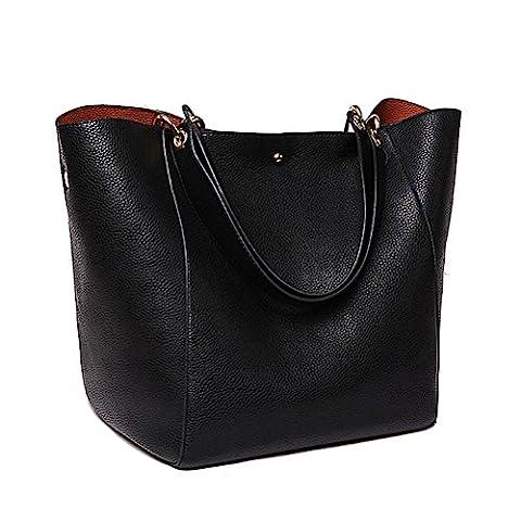 Aosbos Women Handbag Leather Tote Bag Shopping Shoulder Bag