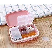 Pillendose mit 6 Fächern für Medikamente, tragbar, Lagen-Organizer preisvergleich bei billige-tabletten.eu