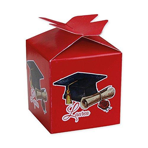 25 scatoline porta confetti per laurea