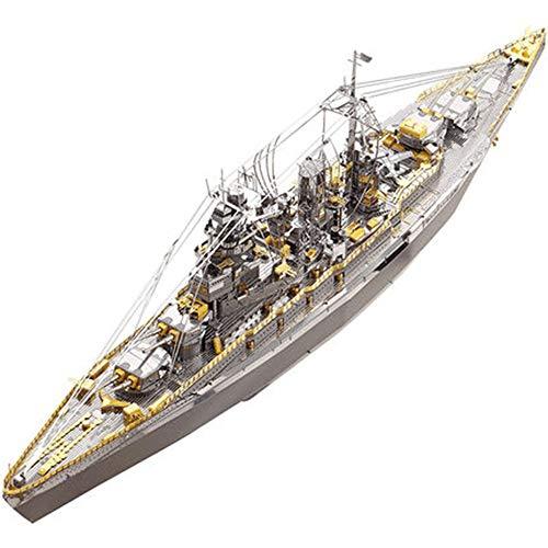 3D Stereo Metall Puzzle Schlachtschiff von Changmen Island Modell Spielzeug DIY handgefertigten Ornamente Kind vergnügen Hands-on Puzzle Spielzeug Messing + nadelzange 30 * 9 cm - Kind Autositz Cabrio