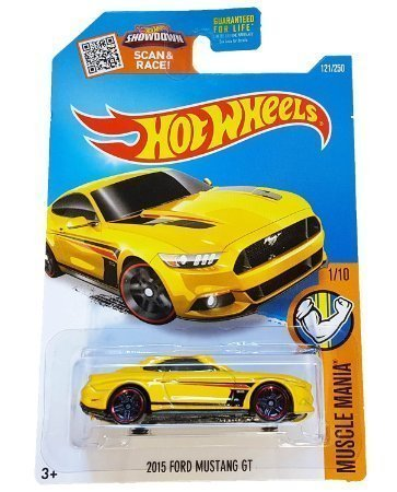 Hot Wheels, 2016 Muscle Mania, 2015 Ford Mustang GT [Yellow] Die-Cast Vehicle #121/250 by Hot Wheels (Hot Wheels Mustang)