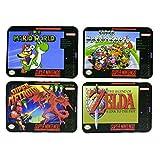 Paladone Super Nintendo Dessous-de-Verre avec The Legend of Zelda, Liège, Multicolore, 9x 12.5x 0.3cm