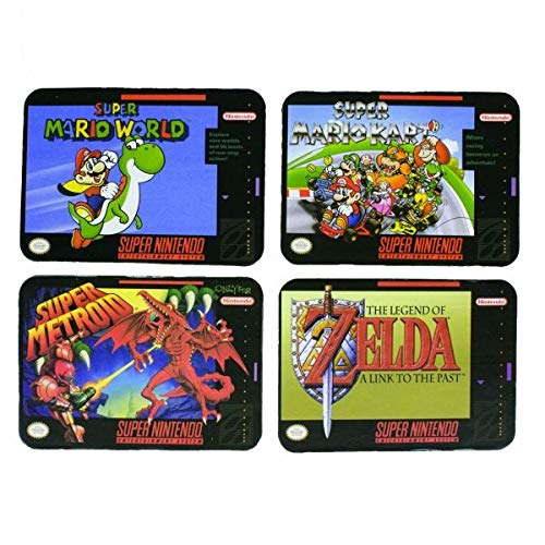 Super Nintendo Games Drinks Coasters, Set of 4