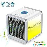 Mini klimaanlage 3 In 1 Mobiles Klimageräte Air Cooler Mini Luftkühler mit Wasserkühlung Zimmer Raumentfeuchter Luftbefeuchter und Luftreiniger Mini klimagerät ohne Abluftschlauch für Büro, Hotel, Garage