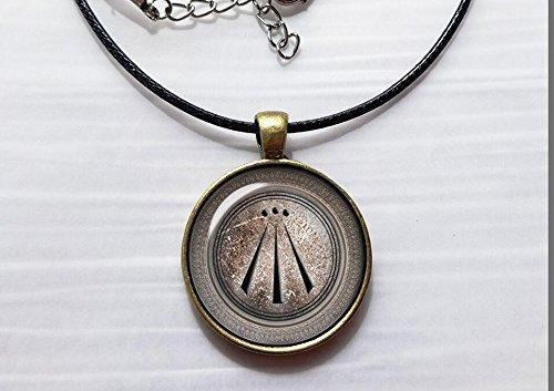 Huang Nine-sisters Druide Schutz Amulett Foto Anhänger Viking Jewelry Halskette Viking Keltische Kunst Schmuck Symbol Keltisch Schmuck Awen Druide Amulett Halskette -
