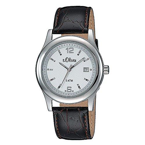 s. Oliver Hombre Reloj de pulsera analógico cuarzo piel So de 15074de LQR