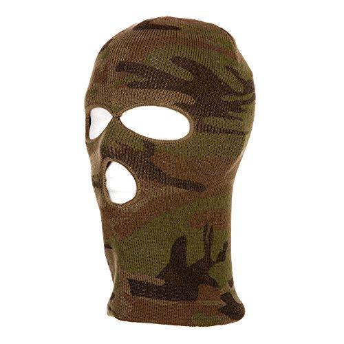 Tactical Attack 3 Loch Maske Sturmhaube Softair Commando Mütze Fein Camouflage Camo Kopfbedeckung Paintball Airsoft Outdoor Angeln Jagen Bounce Mütze -