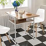 Freizeitstuhl,DASENLIN Tisch, Massivholz faltbare Dual-Use-kleinen Esstisch, Heimcomputer Schreibtisch Schreibtisch, Länge 59.2CM * Breite 45 * 2CM, alte Eiche Farbe
