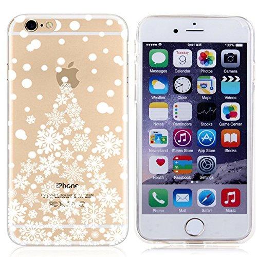 Voguecase® für Apple iPhone 5C, Schutzhülle / Case / Cover / Hülle / Ultra Slim Fit TPU Gel Skin (Kleine Gänseblümchen 05) + Gratis Universal Eingabestift Schneeflocke-Weihnachtsbaum