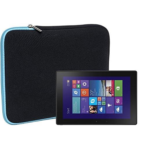 Slabo Tablet Tasche Schutzhülle für Dell Venue 10 Pro Hülle Etui Case Phablet aus Neopren – TÜRKIS/SCHWARZ