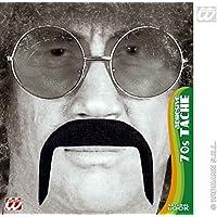 70s Tash - Black 70s Novelty Fake False Moustaches Beards Sideburns etc for Fancy Dress Accessory