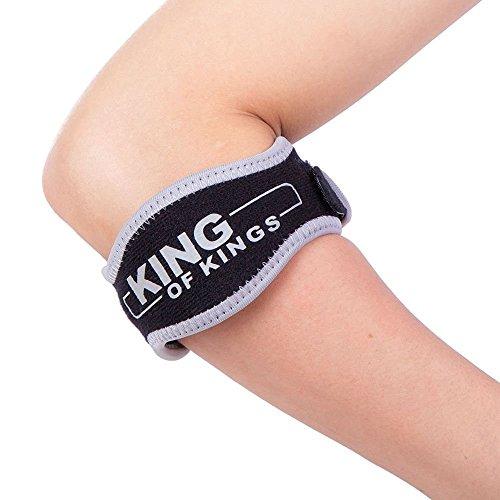 Tennis Elbow Brace con almohadilla de compresión (2unidades)–golfista del codo Correa–mejor banda para antebrazo tendinitis y dolor alivio