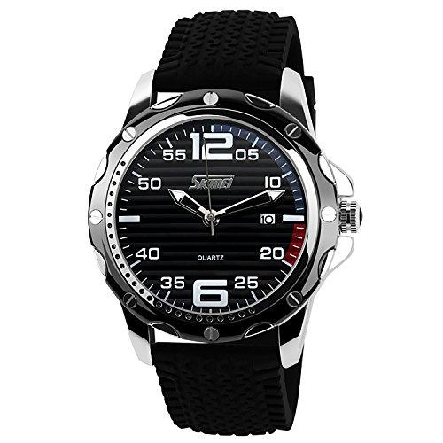 CIVO-Herren-Schwarz-Uhren-Militr-Sport-Uhr-30M-Wasserdicht-Classic-Kalender-Datum-Luxus-Business-Analog-Armbanduhr-Silikon-Uhrband