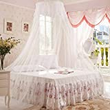 Generic White : High Quality 1pc Elegant Round Lace Insect Bed Canopy Netting Curtain Dome Mosquito Net Worldwide