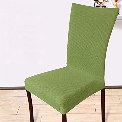 KING DO WAY Removable Stretch Soft Chair Cover Dining Hotel Seat Protector Decor Green