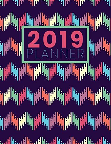 2019 Planner: Funky Zig Zag Multi-Color - Letter-Sized Funky Multi Color