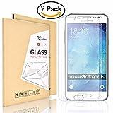 Didisky 2X Displayschutzfolie Panzerglasfolie für Samsung Galaxy J5 2015 Glatt anfühlen, Einfach zu säubern ,9H [Lebenslange Garantie]