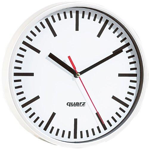 PEARL Wanduhren: Quarz-Bahnhofsuhr, 22,5cm Durchmesser (Quarz Uhr)