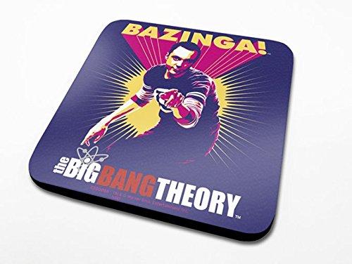 Pyramid International The Big Bang Theory Bazinga Violet Officielle Dessous-de-Verre Housse de Protection en mélamine avec Base en liège, Bois, Multicolore, 10 x 10 x 1.3 cm