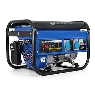 EBERTH 2200 Watt Générateur électrique (5,5 CV Moteur à essence 4 temps, Refroidi à l'air, 2x 230V, 1x 12V, Régulateur de tension automatique AVR, Alarme manque d'huile, Voltmètre)